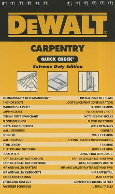 DeWalt Carpentry Quick Check By Prince, Chris